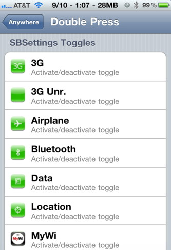 Control Sbsettings with iPhone activator
