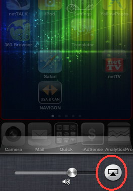 Access AirPlay on iPhone