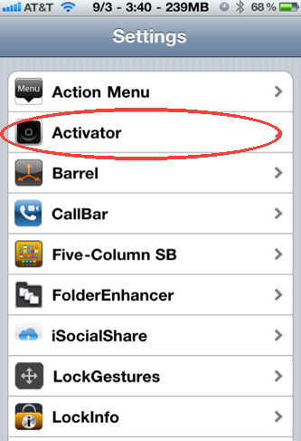 Set Activator to start Audio Memo with a gesture