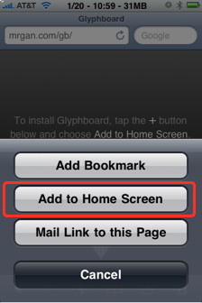 add a web app to home screen on iPhone