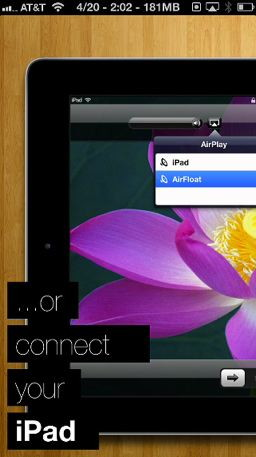AirFloat is a Jailbreak app for iPhone that allows stream audio