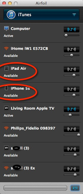 Airfoil airplay receiver