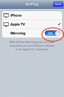AirPlay mirror comes with iOS 5 for iPhone 4S