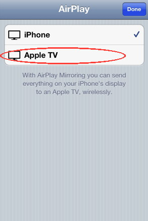 AirPlay mirror on iPhone 4S