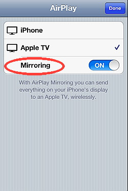 Enable AirPlay mirror on iPhone 4S