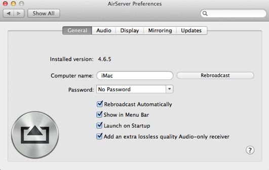 AirServer is a Mac Apple TV application