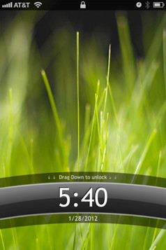 Android lock screen is an iPhone theme that makes your iPhone look like an Android