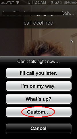 receiving phone calls with ios 6