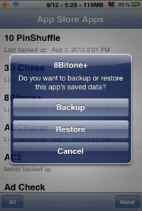 iPhone tricks and iPhone  hacks like AppBackup allow you to back up all your iPhone applications settings