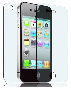 Some iPhone screen protectors cover both the front and back of the iPhone 4