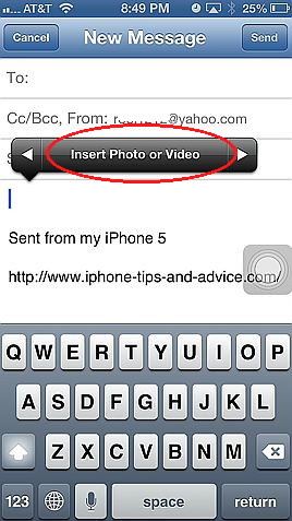 Attach multiple pictures to an email in iOS 6