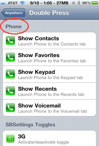 Control your iPhone contacts with Activator