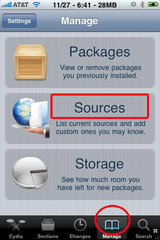 cydia manage packages 1 طريقة تفعيل الفيس تايم في الايفون 4   facetime activation for iphone 4