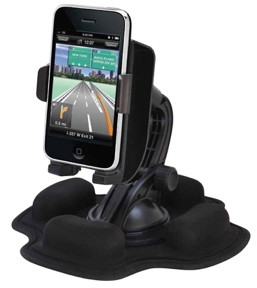 Friction iPhone car mount for dashboard