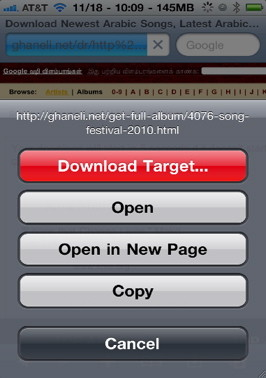Safari Download Manager allows you to download any file in Sfari to the iPhone file system