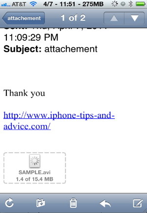 Download iphone attachments from any email