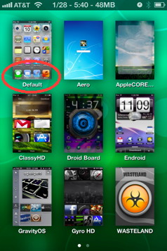 DreamBoard for iPhone allows you to run different iPhone Themes