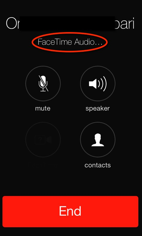 Facetime audio calls for iOS 7