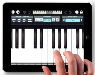 Play music with full size keyboard on iPad vs iPhone