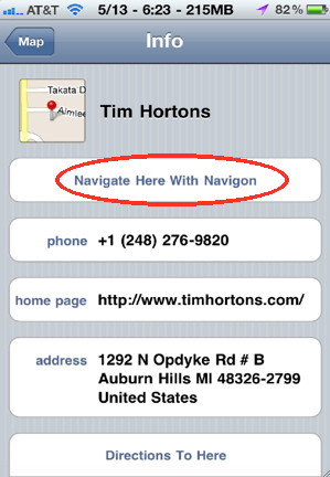 Navigate from maps is an iphone hack for GPS iPhone Google Maps