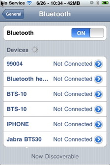 How to pair bluetooth devices with iPhone.