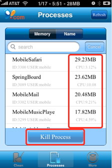 update iPhone memory loss with iPhone memory tool