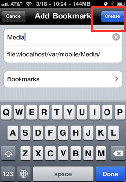 Create favorites with iFile for the iPhone