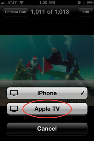 AirPlay for iOS5 requires an Apple TV