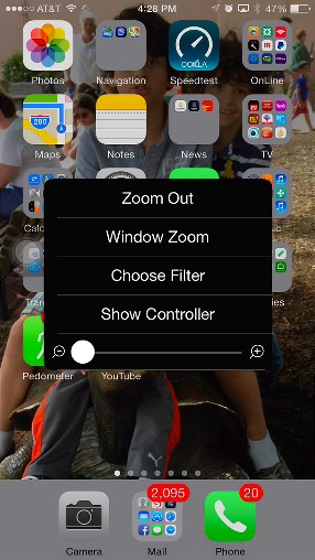 iOS 8 Zoom Feature