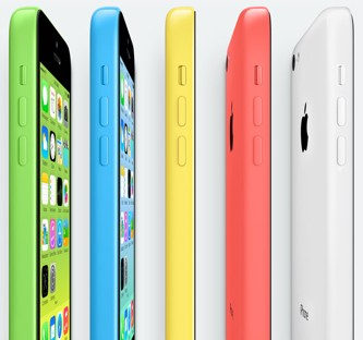 iPhone 5C comes in 5 colors