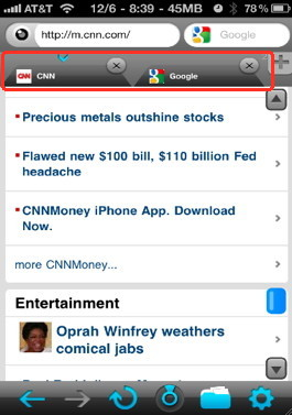 iPhone browser feature