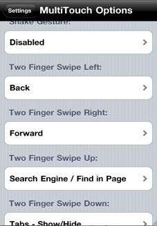 iPhone browser multi touch capability to navigate in full screen mode