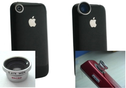 iPhone case with lenses