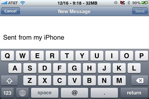 The iPhone email Application