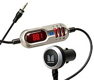 iPhone FM transmitter that is powered by car cigarette lighter