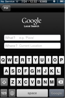 Google search in Navigo for iPhone is cool