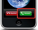Answer call without  iPhone headphones