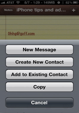 iPhone notes email tips and tricks