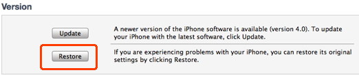 Iphone question: how to restore iPhone