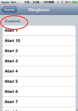 Add Custom iPhone ringtone and see it in  settings