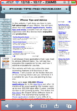 iPhone safari hack full screen browsing
