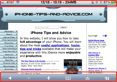Full screen for iPhone is an iPhone safari hack that removes the top and bottom menues from the screen