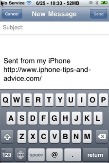 You can change iPhone signature in iPhone mail app