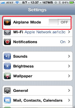 Airplane mode in iPhone tips and tricks