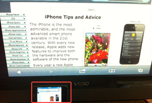 iPhone 4S AirPlay Mirror using iOS 5
