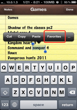 iPhone context menu more options by jailbreak iPhone