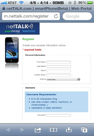 Make iPhone free calls to the US and Canada with NetTALK