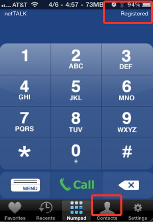 Make free iPhone voip calls with NetTALK