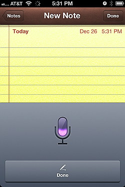 iPhone 4S dictation with iOS 5