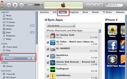 Iphone movie player and file transfer with iTunes